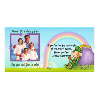 Lucky Enough Leprechaun - Customize and Add Photo Personalized Photo Card