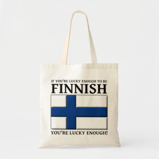 Lucky Enough To Be Finnish Bag Tote