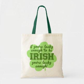 Lucky Enough to be Irish Canvas Bag