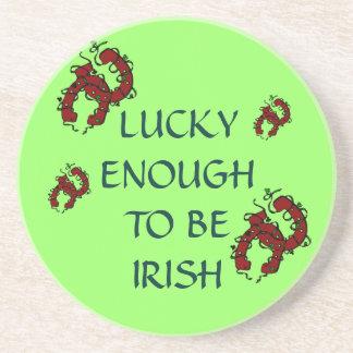 Lucky Enough To Be Irish Horseshoe Coaster