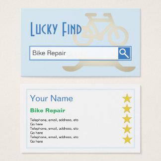 """Lucky Find"" Bike Repair Business Cards"