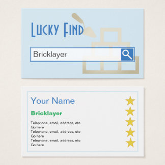 """Lucky Find"" Bricklayer Business Cards"