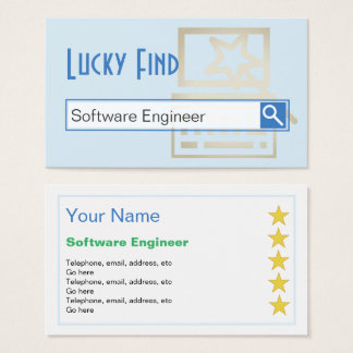 """Lucky Find"" Software Engineer Business Cards"