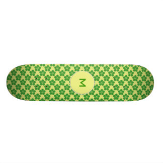 Lucky Five Leaf Clovers Skate Boards