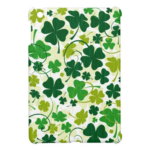 Lucky Floral Clovers iPad Mini Cover