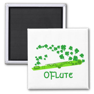 Lucky Flute Square Magnet