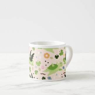 Lucky Flying Turtles Pattern Espresso Cups