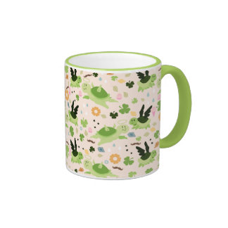 Lucky Flying Turtles Pattern Coffee Mugs