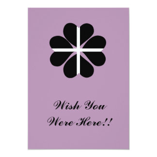 Lucky Four Leaf Clover Cornish Flag Card