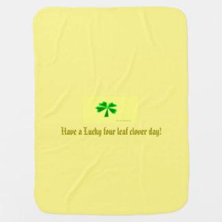 lucky four-leaf clover (LFLC) Baby Blanket
