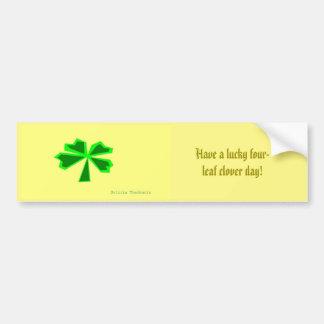 lucky four-leaf clover (LFLC) Bumper Sticker