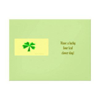 lucky four-leaf clover (LFLC) Canvas Print