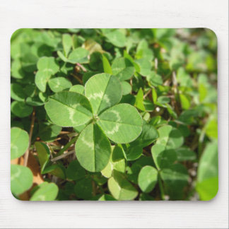 Lucky Four Leaf Clover Mouse Mat