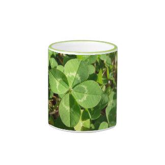 Lucky Four Leaf Clover Ringer Mug