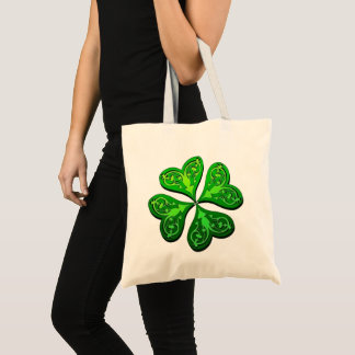 Lucky Four-Leaf Clover Tote Bag