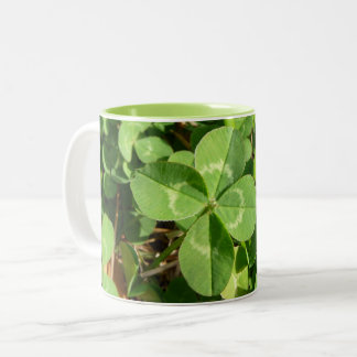 Lucky Four Leaf Clover Two-Tone Coffee Mug