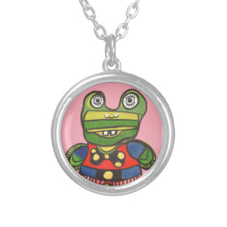 Lucky Frog Round Pendant Necklace