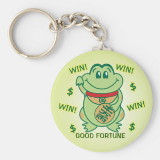 Lucky Frog Win! Key Ring