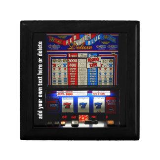 Lucky Gambler Slot Machine Small Square Gift Box