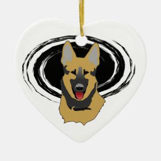 Lucky German Shepherd Owner Ornament