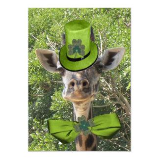 Lucky Giraffe 13 Cm X 18 Cm Invitation Card