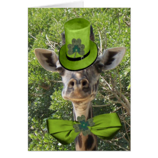 Lucky Giraffe Greeting Card