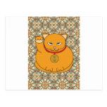 Lucky Gold Cat Post Card