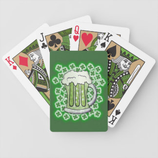 Lucky Green Beer Bicycle Playing Cards