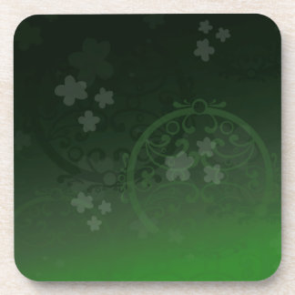 Lucky Green Beverage Coasters
