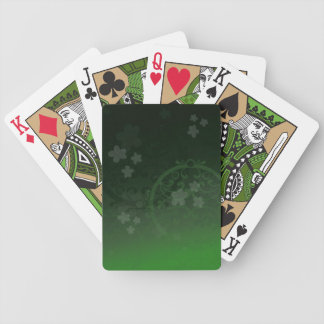 Lucky Green Bicycle Playing Cards