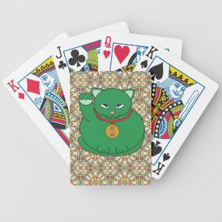 Lucky Green Cat Poker Deck
