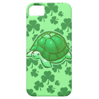 Lucky Green Clover Turtles Barely There iPhone 5 Case