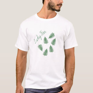 Lucky Green Fern Pattern T-Shirt Top