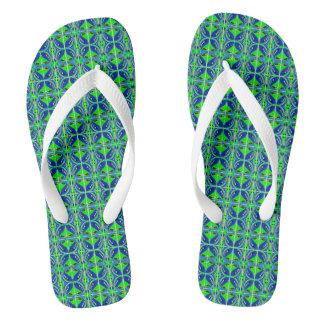Lucky green flip flops