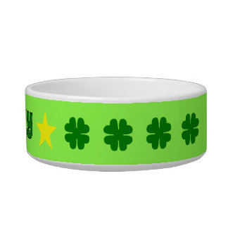 LUCKY green four-leaf clover Bowl
