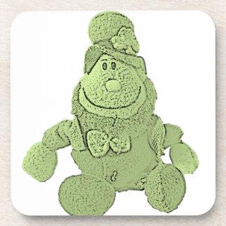 Lucky Green Leprechaun Beverage Coasters