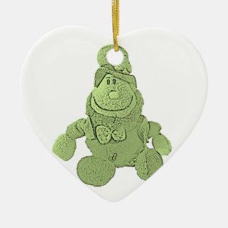 Lucky Green Leprechaun Christmas Ornament
