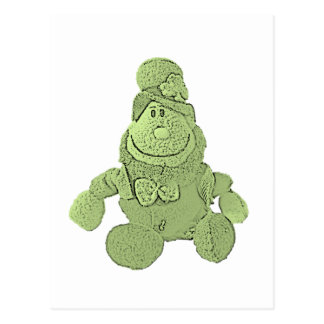 Lucky Green Leprechaun Postcard