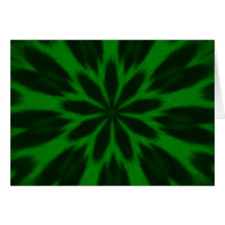 Lucky Green Spotted Leopard Kaleidoscope Greeting Card