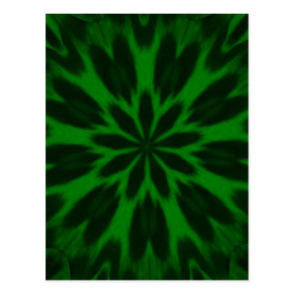 Lucky Green Spotted Leopard Kaleidoscope Post Cards