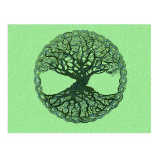 Lucky Green Tree of Life Postcard