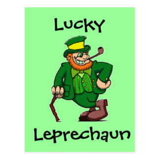 Lucky Happy Irish Leprechaun Postcard