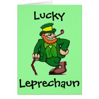 Lucky Happy Irish Leprechaun St. Patricks Day Card