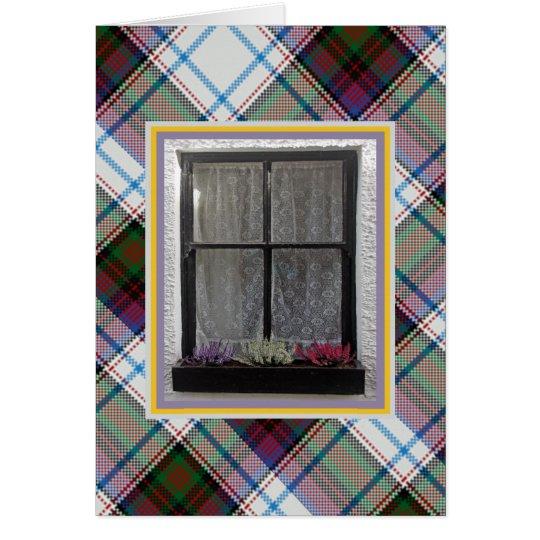 Lucky Heather at the Window MacDonald Tartan Card