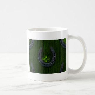 lucky horeshoe basic white mug