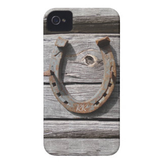 Lucky Horseshoe On Wooden Fence iPhone 4 Case-Mate