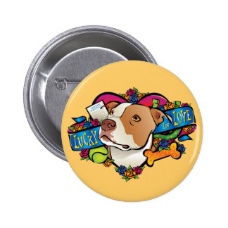 Lucky in Love 6 Cm Round Badge