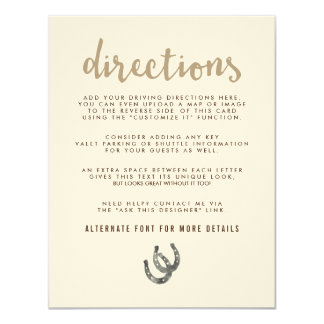 Lucky in Love Directions 11 Cm X 14 Cm Invitation Card