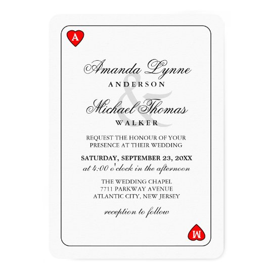 Lucky in Love - Hearts Playing Card Wed