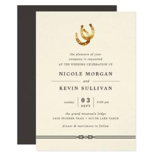 Lucky in Love   Horseshoe Wedding Invitation
